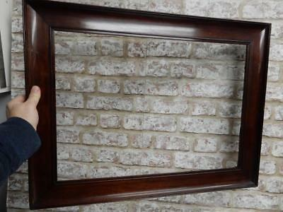 """really old picture frame mahogany fits a 22 inch  X  16 """" painting"""