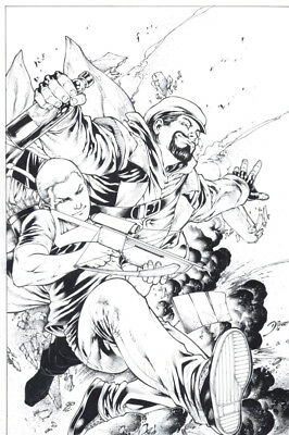 Diego Bernard ARCHER AND ARMSTRONG Valiant Unpublished Cover Original Art