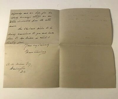 President Grover Cleveland 1901 Autograph Letter Signed - Sent From Princeton