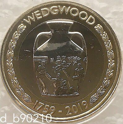 2019 Two Pounds £2 Wedgwood 260th Anniversary BU