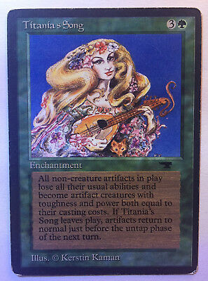 MTG - Magic The Gathering - 1x TITANIA'S SONG - Antiquities - ENG - GD-