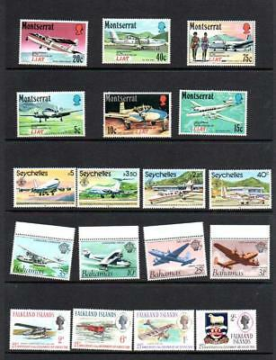 (F708)  Planes 4  MNH SETS  MORE LISTED