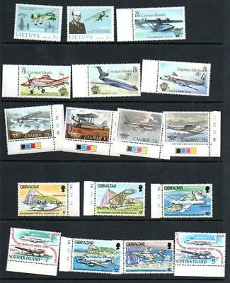 (F717)  Planes  MNH SETS & ODDS MORE LISTED