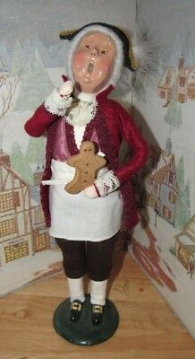 BYERS CHOICE Caroler Cries of London Gingerbread Vendor with Cookie 1996 B*