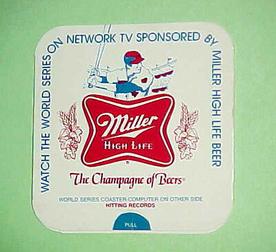 """1976 MILLER HIGH LIFE WORLD SERIES """"Record Finder"""" COASTER (Number 2 of 4)"""