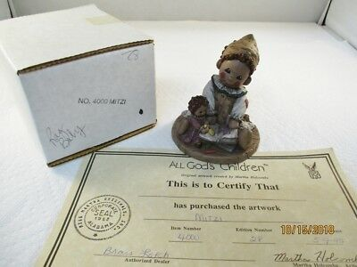 1995 All Gods Children Miss Martha Figurine Mitzi God Is Love Rag Doll Holcombe