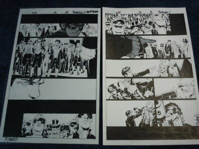 Chris Bachalo original ART - Wolverine X-Men issue 16 two PAGES 15 + 16 Hellfire
