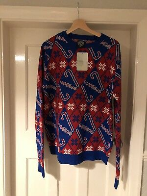 NHL New York Rangers Christmas Ugly Jumper - Size Large *NEW^