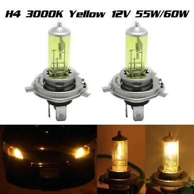 2Pcs H4 9003 Yellow 3000K Xenon Hid Halogen Headlight Bulbs Front Oem Hi/lo