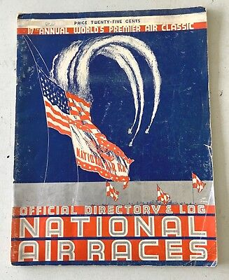 Official Directory & Log Cleveland Air Races  1937