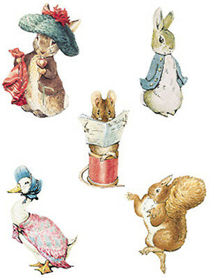 Beatrix Potter 25 Wallies Wall Cutouts Sticker Borders Peter Rabbit Nursery Deco