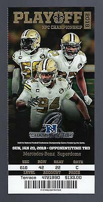 2018-19 Nfl Nfc Championship Los Angeles Rams @ New Orleans Saints Full Ticket