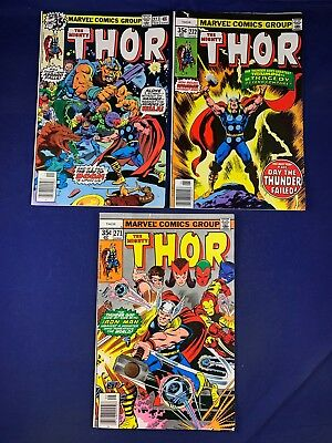 The Mighty Thor #277 272 271 Marvel Comics Bronze Age set lot NO RESERVE