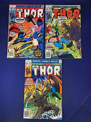 The Mighty Thor #269 266 265 Marvel Comics Bronze Age set lot NO RESERVE