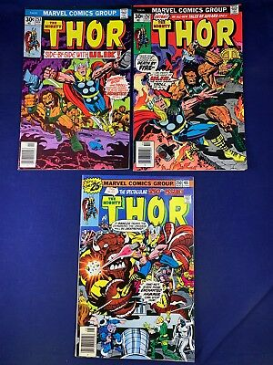 The Mighty Thor #253 252 250 Marvel Comics Bronze Age set lot NO RESERVE