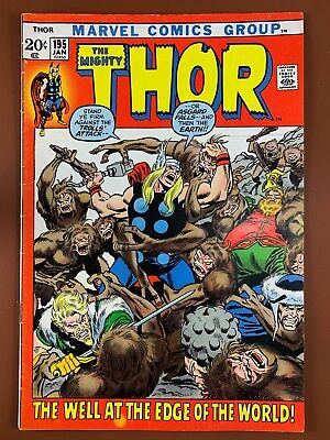 The Mighty Thor #195 Marvel Comics Bronze Age NO RESERVE