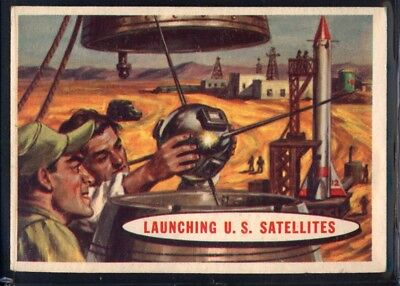 1957 Topps Space Cards #3 Launching U.S. Satellites (EX) *689719