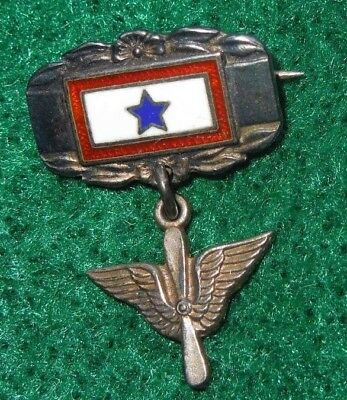 WWII US Army Air Force Son In Service Sweetheart Home Front Pin AAF STERLING