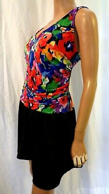 c02375d3014f2 Catalina Woman Plus Size 3X 22  24 Multicolor Lined One Piece Swimdress Euc