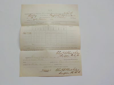 Civil War Document 1862 Forage 3 Horses 2nd New York Cavalry Antique 1 NY VTG NR
