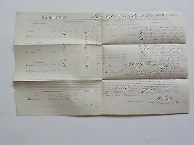 Civil War Document 1864 1st Wisconsin Cavalry Department Of The Cumberland VTG