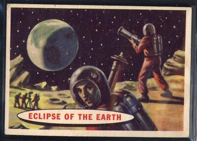 1957 Topps Space Cards #51 Eclipse Of The Earth (EX) *689698