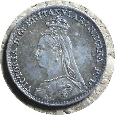 elf  Great Britain 1 Penny 1892 Silver  Victoria   Maundy