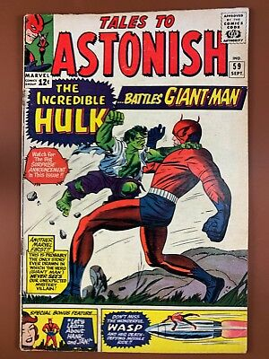 Tales to Astonish #59 (1964 Marvel) Hulk and Giant Man appearance NO RESERVE