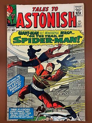 Tales to Astonish #57 (1964 Marvel) Spider-Man Giant Man appearance NO RESERVE