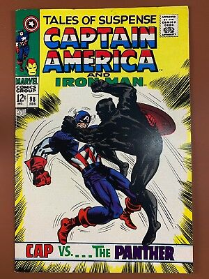 Tales of Suspense #98 Black Panther Iron Man and Captain America appearance