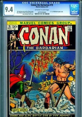 Conan the Barbarian #15 White Pages 1972 CGC 9.4 NM