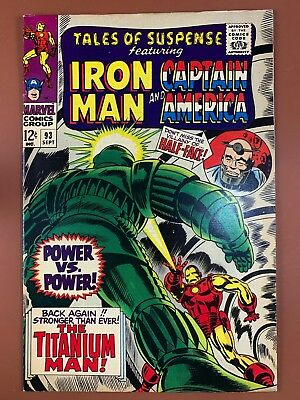 Tales of Suspense #93 Marvel Comics Iron Man and Captain America appearance