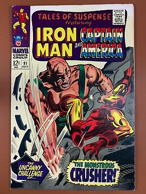 Tales of Suspense #91 Marvel Comics Iron Man and Captain America appearance
