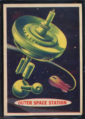 1957 Topps Space Cards #68 Outer Space Station (EX/MT) *689679
