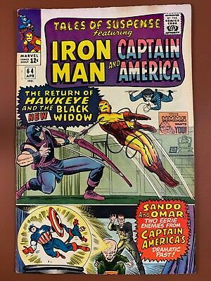 Tales of Suspense #64 Marvel Comics Iron Man and Captain America appearance