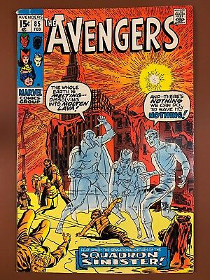 Avengers #85 (1971 Marvel Comic) Squadron Sinisterappearance Bronze Age