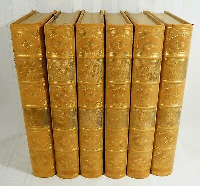RARE 6 Volume LEATHER  Books The Works of WILLIAM SHAKESPEARE Fine Binding 1885