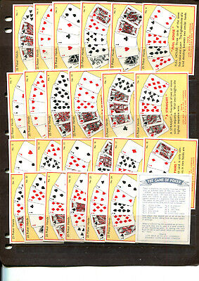 Cigarette Cards Cope Bros 1936 The Game Of Poker Complete Set 25/l25  Lot 413
