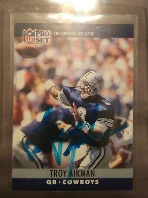 Troy Aikman Hand Signed Auto