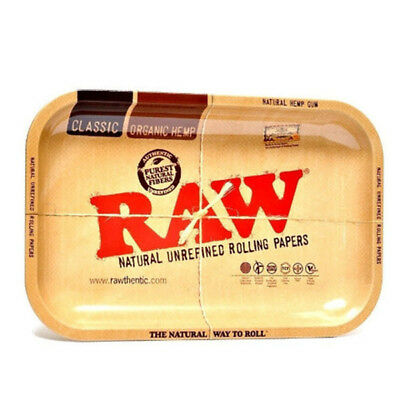 RAW Metal Rolling Tray Small 11 x 7 Inch Tobacco Cigarette Rolling