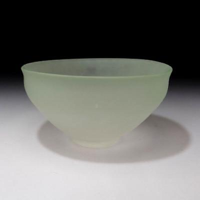 HN5: Vintage Japanese Glass Tea bowl with wooden storage box
