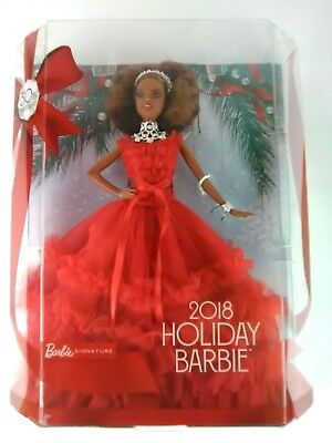 Barbie 2018 Holiday Signature Collector Doll African American Nikki New
