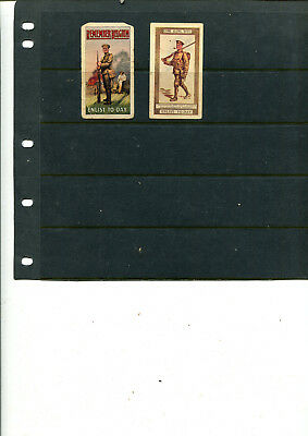 Cigarette Cards Wills 1915 Recruiting Posters (Anon Back) 2/10 Cards Lot 061