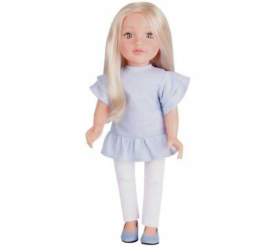 Chad Valley Designafriend Lola Doll Denim Jeans With Ripped Knees 18inch/45cm_UK