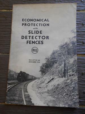 1936 Slide Detector Fences Railway signal trains systems fence signals book