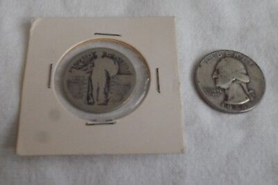 Pair of Circulated Washington & Liberty Quarters 90% Silver 1944 & Unknown Date