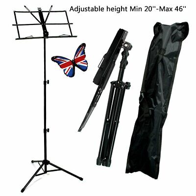 Adjustable Music Note Stand Sheet Music Holder Lightweight Foldable + Carry Case
