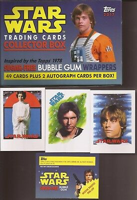 2017 Topps STAR WARS SUGAR FREE 49 CARD Open Boxed Set NO AUTOGRAPH or PARALLEL