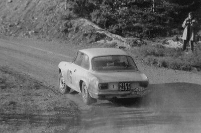 Alfa Romeo Giulia GTA – Monte Carlo Rally 1968 - photograph photo
