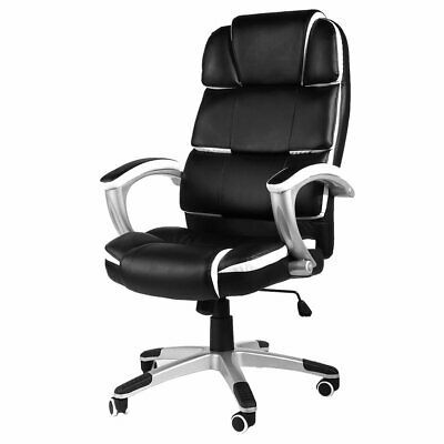 Office Computer Chair Executive Home Luxury PU Swivel High Back Adjustable Tilt